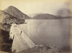 The Bheer Dam completed. Designed and built by Col. J.M. Williams, 1871-3.